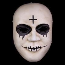 The Purge Mask Helmet Halloween Cosplay Season Resin Black Eyes - $64.35 CAD