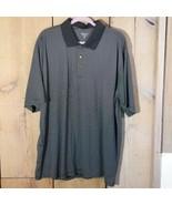 Pebble Beach Performance Golf Polo Black and White Stripes Size XXL - $14.52