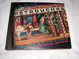 "STRAVINSKY Petrouchka Stokowski Philadelphia 12"" 78 RPM SET of 4 Free Ship USA - $32.91"