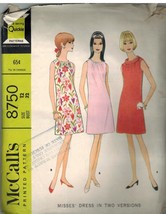 8750 Vintage McCalls Sewing Pattern Misses Dress Casual Spring Summer Loose 12 - $5.19