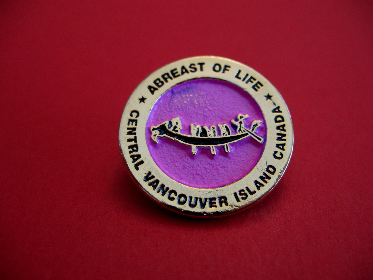 Abreast Of Life Breast Cancer Survivors Souvenir Lapel Pin