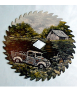 Hand Painted Saw Blade Summer Old Farm Truck Custom Order Wall Decor - $45.00