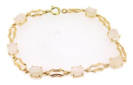 14k Gold Genuine Natural Moonstone Bracelet (#J4023) - $570.00