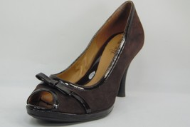 AeroSoft By Sofft Women's Pumps Shoes Brown Suede Leather Open Toe  Heels Sz 6M - $24.18