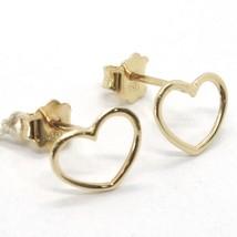 Gelbgold Ohrringe 750 18K, Mini Hearts, Herz, 8 MM image 1