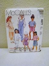McCall's Pattern #4377 - Girls Jumpsuit, Tops, Skirt, Pants - Size Large - Uncut - $3.99