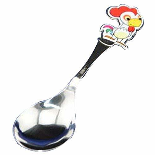 PANDA SUPERSTORE 2 Pcs Creative Cartoon Chick Tableware Stainless Cutlery Soup S