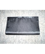 Black Satin Clutch Purse with Black Lining - $7.00