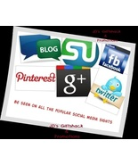 I'll Promote 4 items for  6 months  on Social Media Outlets - $95.00