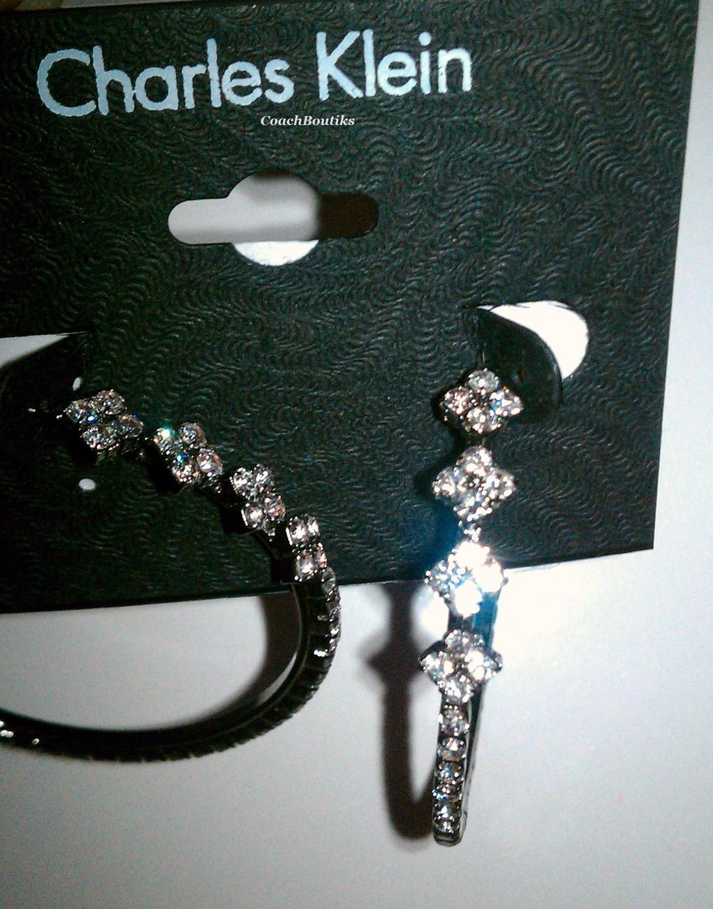Charles Klein Hoop Earring NWT 86428E