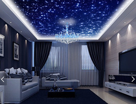 3D Dream Blue Star Sky Wall Paper Murals Wall Print Decal Deco Aj Wallpaper Gb - $34.47+