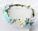 Handmade Adjustable Flower Wreath Headband Halo Floral Crown Garland Headpiece