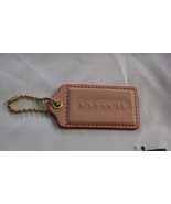 COACH Large Vachetta Leather Hangtag with Fuchsia Edging ~NEW~ - $24.99