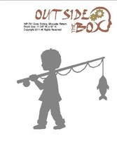 Gone Fishing Scroll Saw Silhouette pattern by OTB Patterns - $2.50