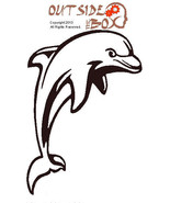 Dolphin Scroll Saw Silhouette pattern by OTB Patterns - $1.50
