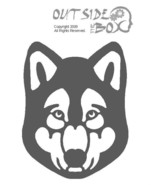 Husky Scroll Saw Silhouette Woodworking pattern by OTB Patterns - $1.65
