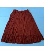 Coldwater Creek Deep Red Velvet Skirt P XL Petite Crinkle Fabric Peasant... - $19.79