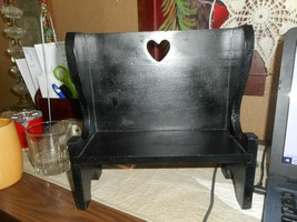 HandMade Colonial Style Painted Basic Black Wooden HighBack BenchSeat Fu... - $19.79