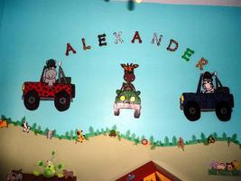 Animals Jungle Baby Boy Nursery decoration - $49.99