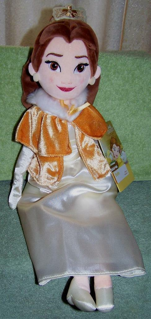 "Disney BELLE in Winter Cape 18.5"" Plush Doll NWT"