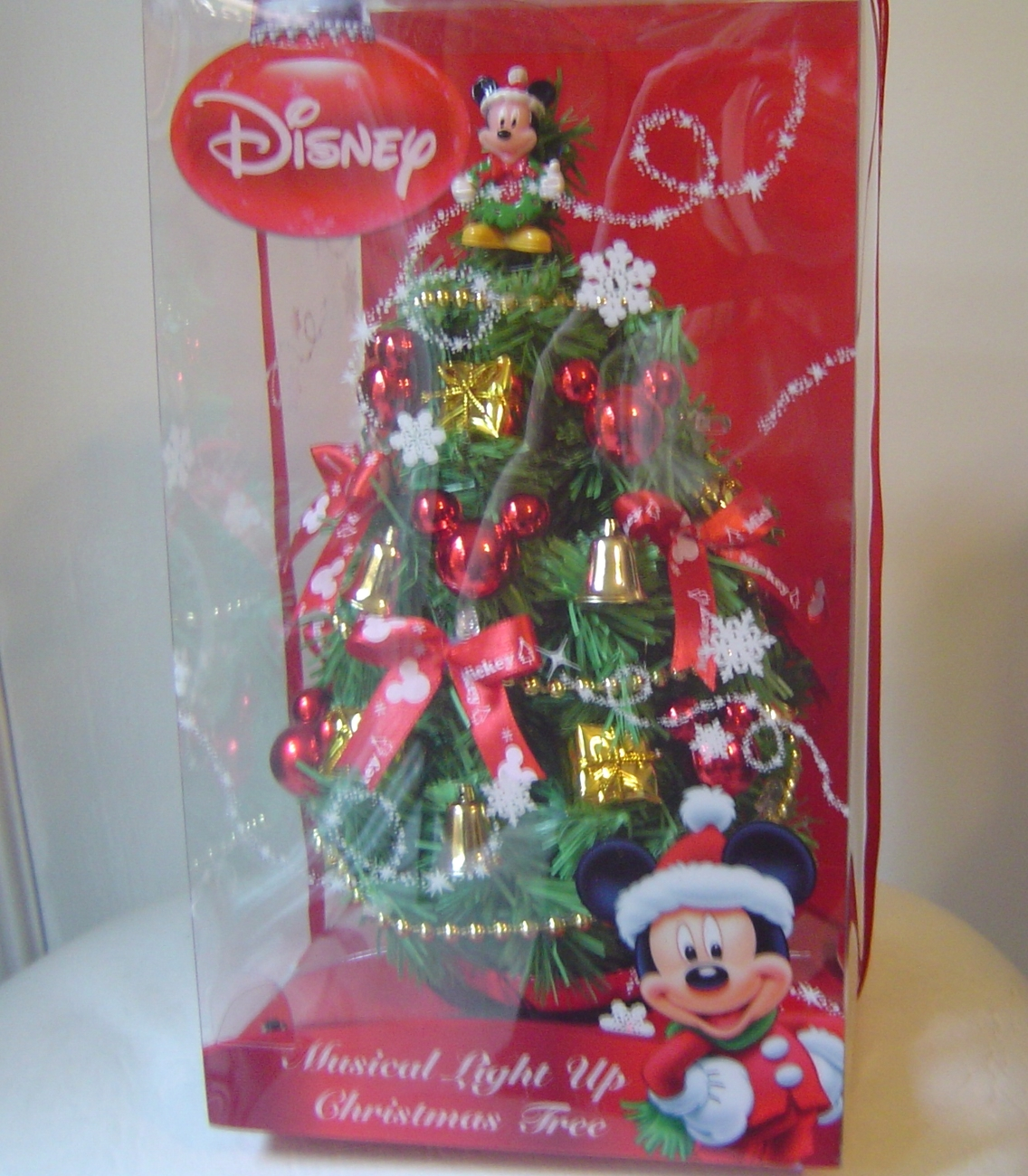 Disney mickey mouse light up musical christmas tree