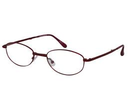 EBE Reading Glasses Womens Oval Folding Stainless Steel Burgundy Light W... - $27.30+