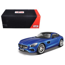 Mercedes AMG GT Metallic Blue Exclusive Edition 1/18 Diecast Model Car  ... - $63.48