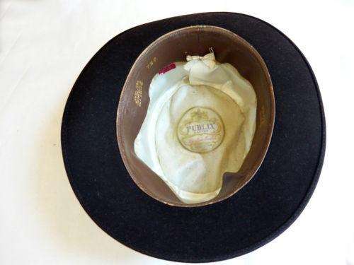 "Beaver Blend Publix Hatters New York Fedora Hat  Size 21.5"""