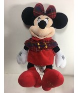 Disney Collection Minnie Mouse Plush Christmas Holiday 2015 Stuffed Toy - $19.87