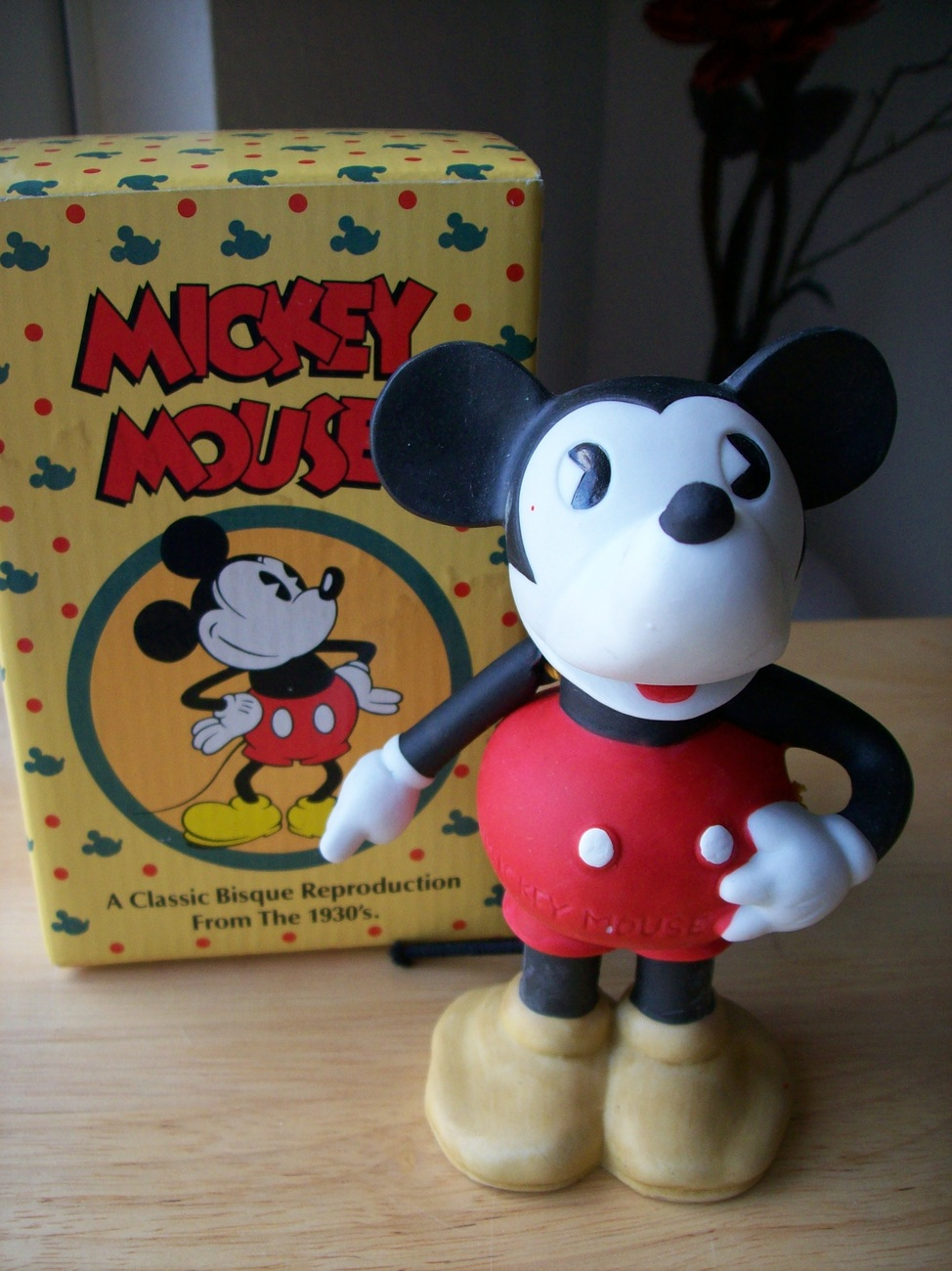 Primary image for Disney Mickey Mouse Reproduction Bisque Porcelain Figurine