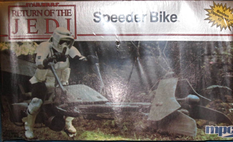 Star Wars,  Return of the Jedi, Speeder Bike, MPC, Model 1-1927, 1983, New