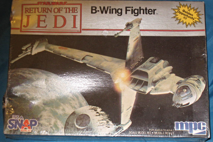 Star Wars, Return of the Jedi, B-Wing Fighter, MPC, Number 1-1974