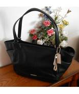 NWT Coach Park Black Pebbled Leather Carrie Tote Shoulder Bag F23284 - $225.50