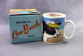 Vintage Welcome To Cow Beach 1986 Coffee Cup Mug Beach Bully Sunbathing... - $18.81