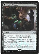 Magic The Gathering MTG Foil Necrotic Wound Promo League Guilds of Ravnica - $4.95