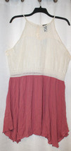 NEW  GORGEOUS WOMENS PLUS SIZE 3X  SUMMER DRESS OFFWHITE TOP PINK BOTTOM... - $19.34