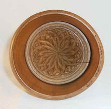 Vintage Primitive Large Size Plunger Type Butter Mold Beautiful Stylized Flower image 1