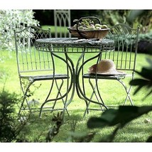 Outdoor Bistro Set 3 Pcs Dining Furniture Sets Garden Patio Green Table ... - $275.15