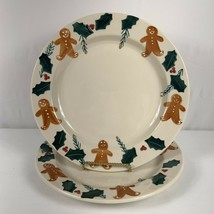 Hartstone Pottery Gingerbread Dinner Plates Lot of 2 USA - $54.45