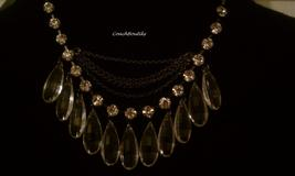 GUESS Clear Lucite Teardrop Necklace w/ Rhinestones NWT  - $25.00