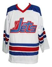 Custom Name # Jets Wha Retro Hockey Jersey New White Bobby Hull Any Size image 3