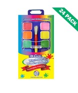 Washable Watercolors Set, Multi Color Palette Paint Watercolor (24 Unit ... - $65.99