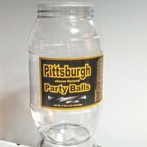 Pittsburgh Party Balls Plastic Canister EMPTY Man Cave Storage Display Jug - $9.89