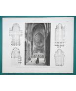 ARCHITECTURE Gothic Cathedrals Prague St Vitus Interior - 1870 Engraving... - $16.20