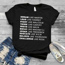 Black Lives Matter Dream Like Martin Lead Like Harriet Men Cotton T-Shir... - $16.82+