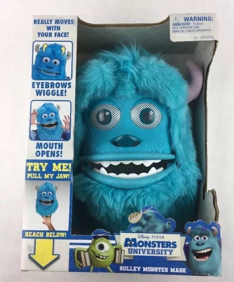 Monsters Inc Sulley Monster Mask Pixar Movable Costume Halloween New L1 - $18.37
