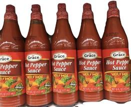 Grace Hot Pepper Sauce-6 oz(5 bottles) - $28.00