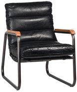 Modern Contemporary Steel Pipe Frame  Genuine Leather Cushions  Accent C... - $1,176.12
