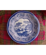 Tin Box Company Pastoral Blue, White Design Bowl  - $7.99