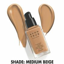 Avon True Colour Flawless Liquid Foundation SPF15 -1 oz - 30 ml / MEDIUM BEIGE - $19.95